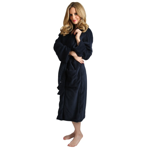 Navy Blue Women's Signature Plush Bathrobe