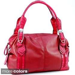 Dasein Dual Front Pockets Shoulder Bag