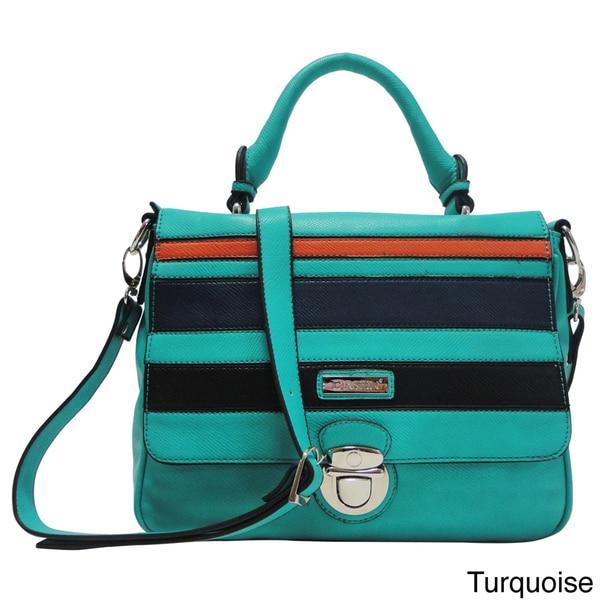 Dasein Multi Block Color Messenger Bag