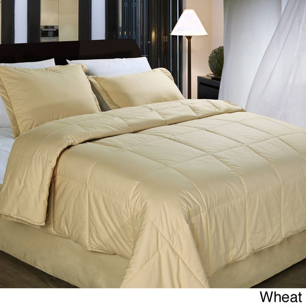 Cottonloft All Natural Down Alternative Cotton-filled 4-piece Comforter Set