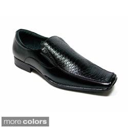 Delli Aldo Men's Snake Textured Faux Leather Loafers