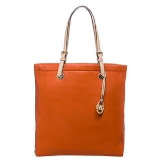 MICHAEL Michael Kors 'Jet Set' Tangerine Leather Tote