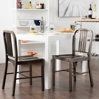 Strick & Bolton Vintage Metal Dining Chairs (Set of 2)