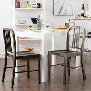 Clay Alder Home Vintage Metal Dining Chairs Set Of 2