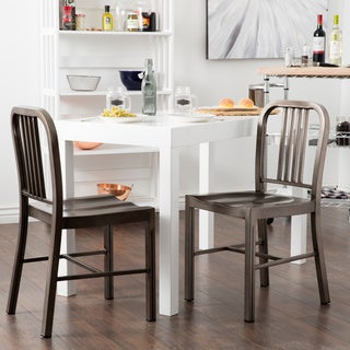 Awesome Clay Alder Home Vintage Metal Dining Chairs (Set Of 2)