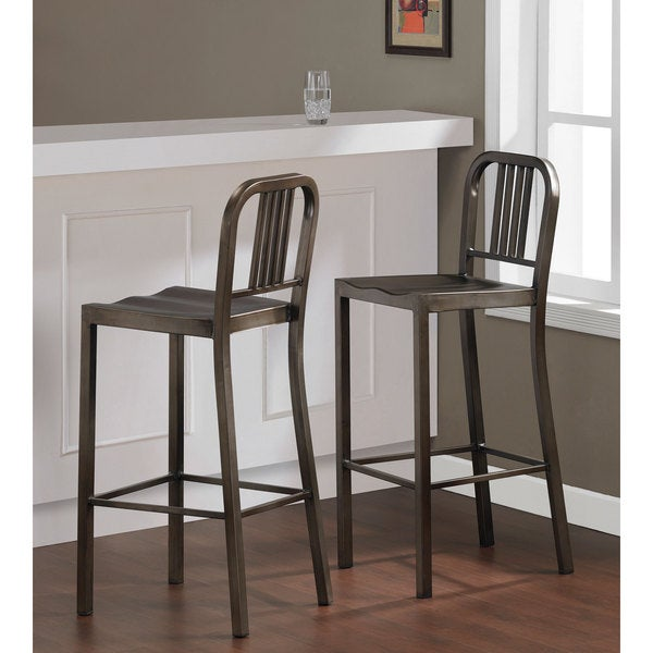 Vintage Metal Bar Stools Set Of 2 Free Shipping Today