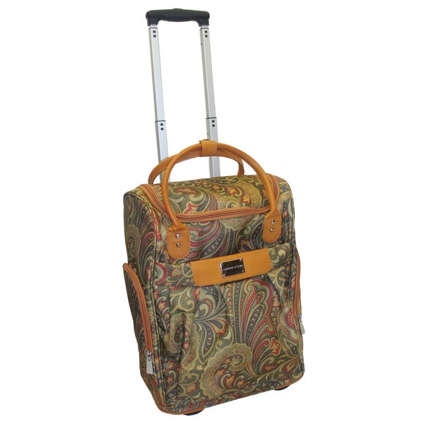Adrienne Vittadini 18-inch Carry-on Rolling Weekender