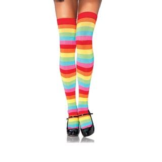 Leg Avenue by Beston Rainbow Thigh-highs