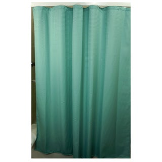 Hacienda Sage Checkered Shower Curtain