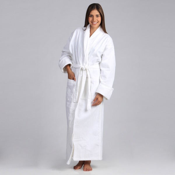 Salbakos Luxury Shawl Collar Spa Velour Bath Robe