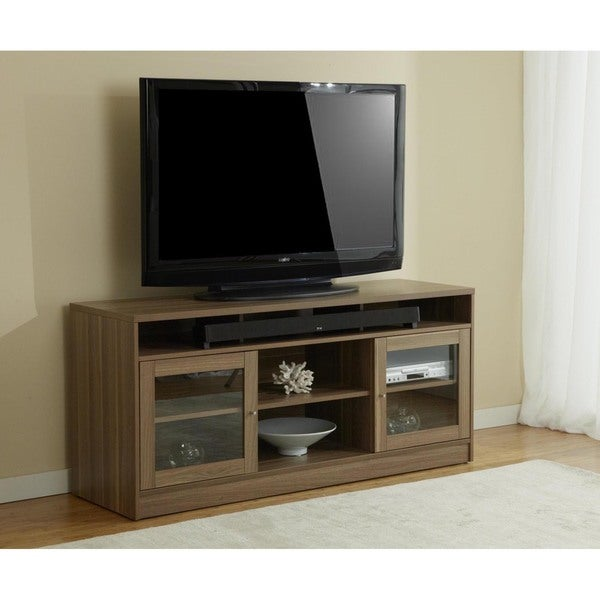 Shop Jesper Office Walnut Tv Stand With Soundbar Shelf Free