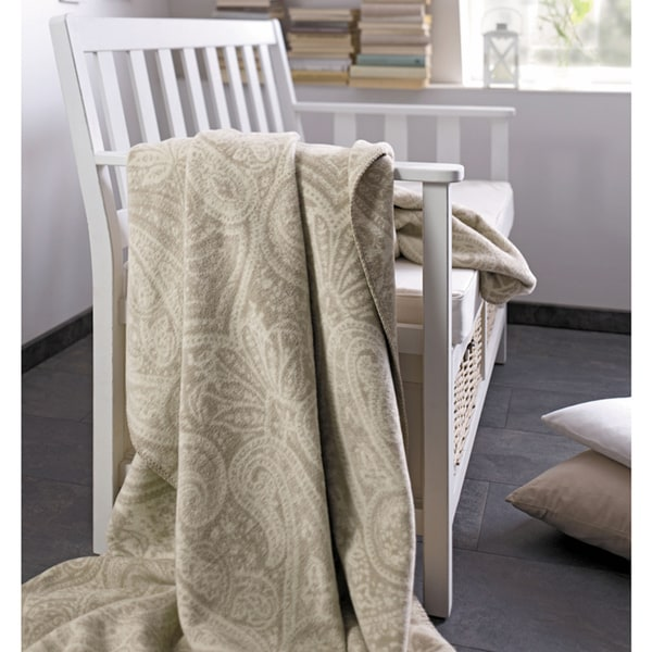 Sorrento Natural Paisley Oversize Throw