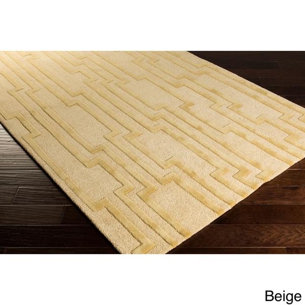 Hand-tufted Modern Geometric Wool Area Rug - 9' x 13'
