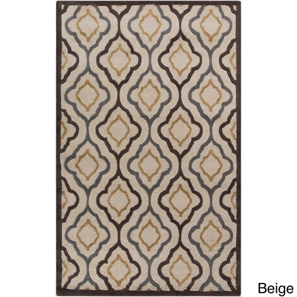 Hand-tufted Modern Geometric Wool Area Rug - 8' x 11'