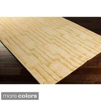 Hand-Tufted Modern Geometric Wool Area Rug - 8' x 11'