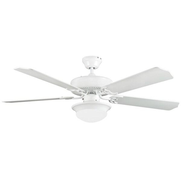 52 Inch Five Blade Two Light Ceiling Fan / Light Kit