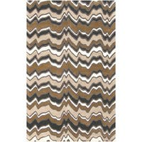 Hand-Tufted Modern Geometric Rectangular Wool Area Rug
