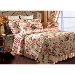 Greenland Home Fashions Butterflies Bonus 5-piece Quilt Set
