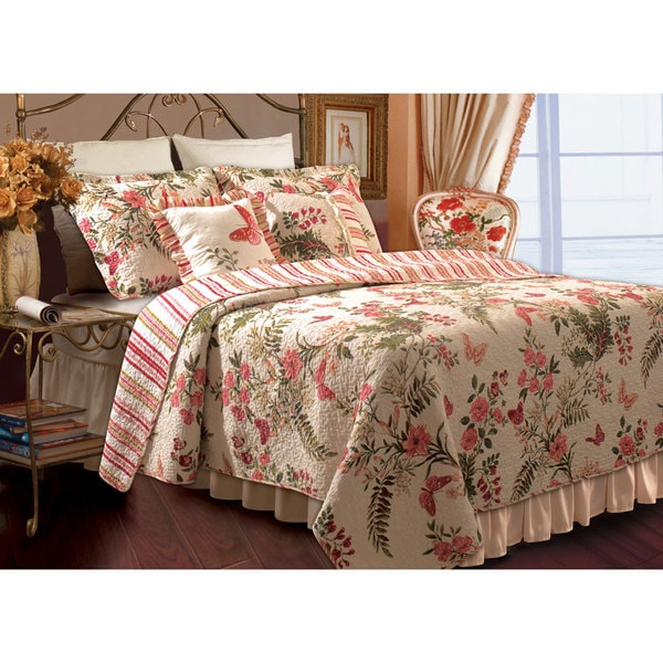 Greenland Home Fashions Butterflies Bonus 5-piece Quilt Set