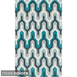 Hand Tufted Contemporary Geometric Area Rug (8u0027 X 11u0027)