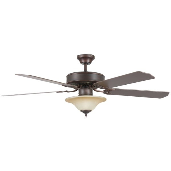 52 Inch Two Light Five Blade Ceiling Fan Kit