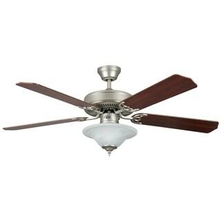 52 Inch Two Light Five Blade Ceiling Fan / Light Kit