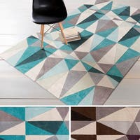 Hand-tufted Contemporary Geometric Area Rug - 8' x 11'