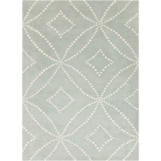 Hand-tufted Contemporary Grey Geometric Rug (9' x 12')