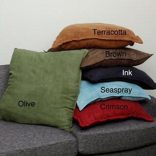 Faux Suede 26-inch Oversize Decorative Pillows (Set of 2)