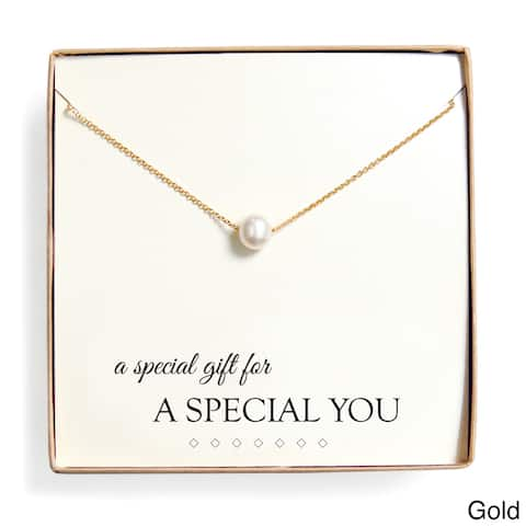 'Special Gift' Floating Freshwater Pearl Necklace Gift Set