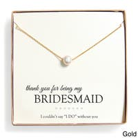 Bridesmaid Thank You Pearl Necklace Gift Set (8 mm)