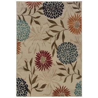 Floral Stone/ Multi Rug (9'10 x 12'9)