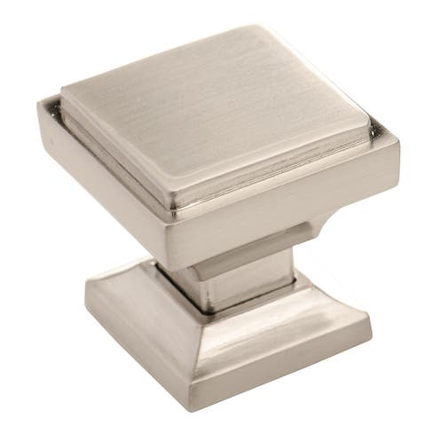 Southern Hills Satin Nickel Square Cabinet Knob (Pack of 10) - Silver