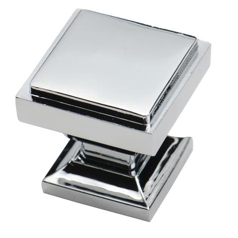 Southern Hills Polished Chrome Square Cabinet Knobs (Pack of 10) - Silver