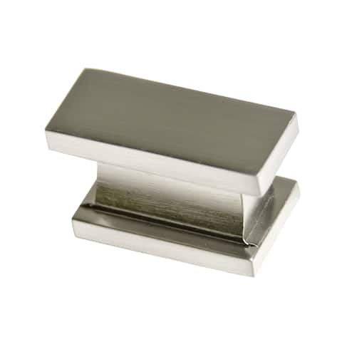 Southern Hills Satin Nickel Rectangular Cabinet Knobs (Pack of 5)