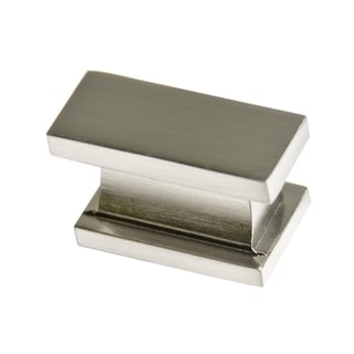 Charmant Southern Hills Satin Nickel Rectangular Cabinet Knobs (Pack Of 5)