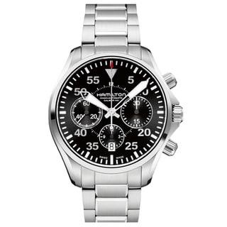 Hamilton Men's 'Khaki Pilot' Black Dial Automatic Watch