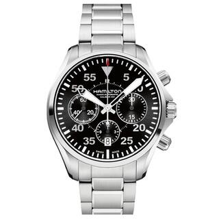 Hamilton Men's 'Khaki Pilot' Black Dial Automatic Watch|https://ak1.ostkcdn.com/images/products/8096041/P15447235.jpg?impolicy=medium