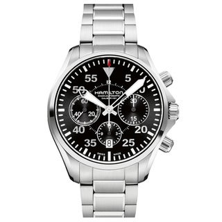 Hamilton Khaki Aviation Pilot Auto Chrono Stainless Steel Men's Watch
