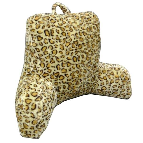 Leopard Faux Fur Bedrest / Lounger Pillow