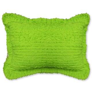 Ruffled Lime Green Shams