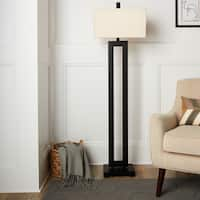 I Love Living Mocha Metal Floor Lamp