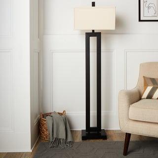 mocha metal floor lamp