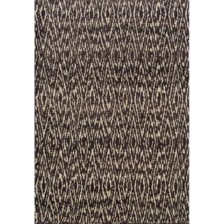 Old World Tribal Ivory/ Grey Rug (6'7 x 9'1)