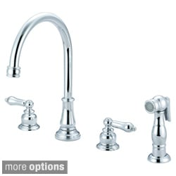 Pioneer Brentwood Series Traditional Two-Handle Kitchen Widespread Faucet