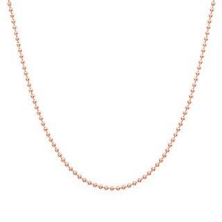 Sterling Essentials 14k Rose Gold over Silver 1.25-mm Ball Chain