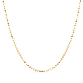 Roberto Martinez Yellow Gold Plated Silver 1.25-mm Ball Chain (16-24 Inch)