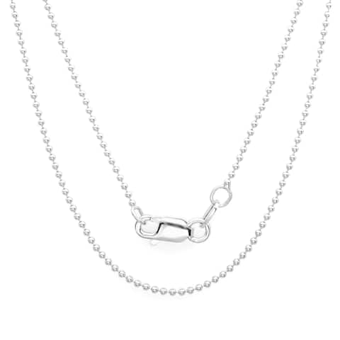 Sterling Essentials Sterling Silver 1.25-mm Ball Chain (16-24 inch)
