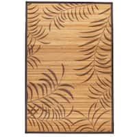 hand woven palm leaves rayon from bamboo rug 6 39 x 9 39 free shipping today. Black Bedroom Furniture Sets. Home Design Ideas