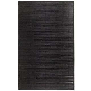 Bamboo Black Area Rug (5' x 8')